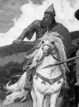 Добры́ня Ники́тич - богатырь русского народного эпоса. Он часто изображается служилым богатырём при князе Владимире.
