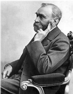 Альфред Нобель (1833-1896), шведский химик, изобретатель динамита, завещал свое состояние на учреждение Нобелевской премии.