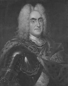 Август II (1670—1733) — курфюрст Саксонии.