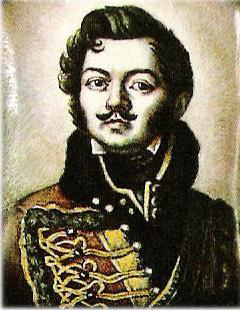 Денис Давыдов (1784-1839), герой Отечественной воынй 1812 года, поэт «Пушкинской плеяды», генерал-лейтенант, партизан.