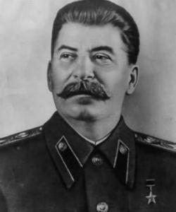 Ио́сиф Виссарио́нович Ста́лин - российский революционер, советский политический, государственный, военный и партийный деятель.