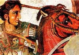Александр Македонский, фреска