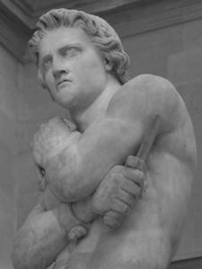 Спарта́к (лат. Spartacus, около 110 год до н. э.) - воин из Фракии, попавший в плен к римлянам и превращённый в раба-гладиатора.
